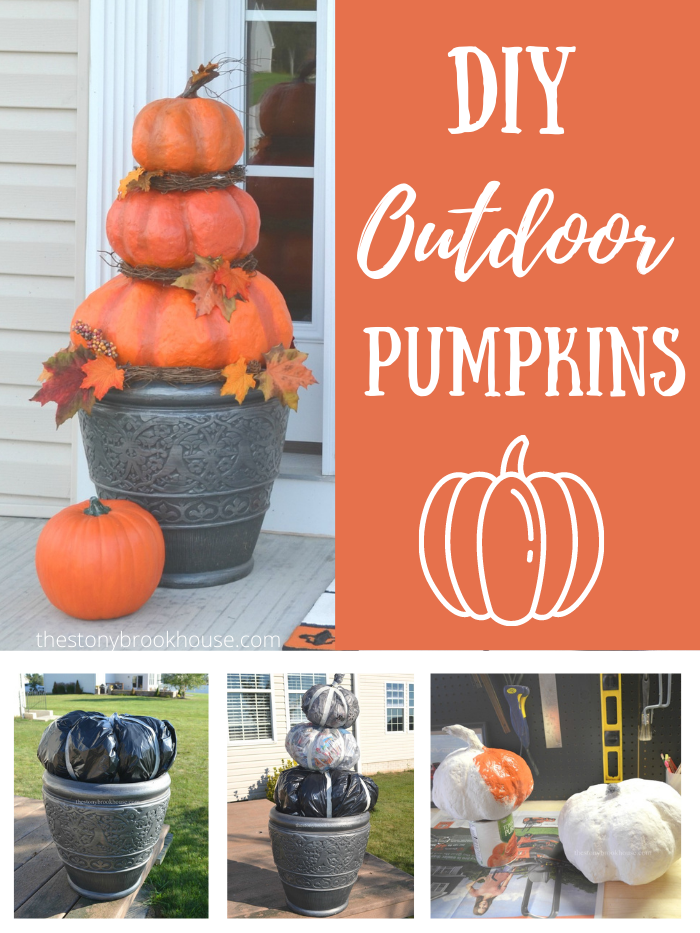 DIY Outdoor Pumpkins