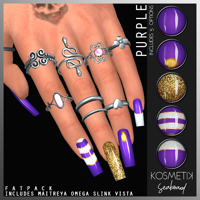 .kosmetik Nails Seaboard Purple