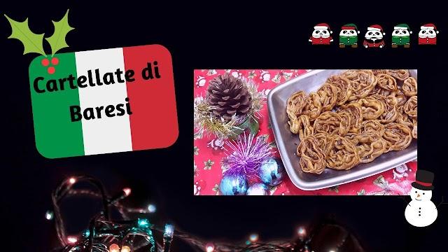 Cartellate di Baresi.- o famoso doce italiano de Natal