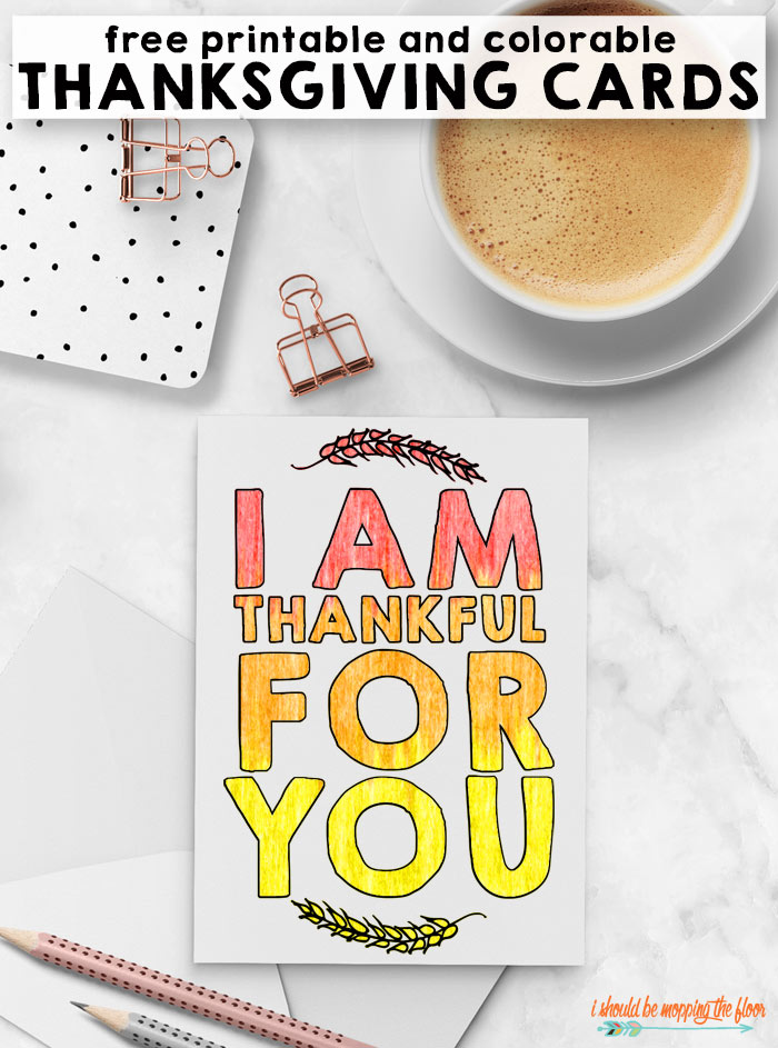 Free Thanksgiving Cards to Color