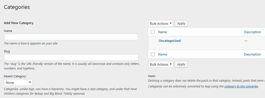 Wordpress Manage Your User Account, post settings , media settings