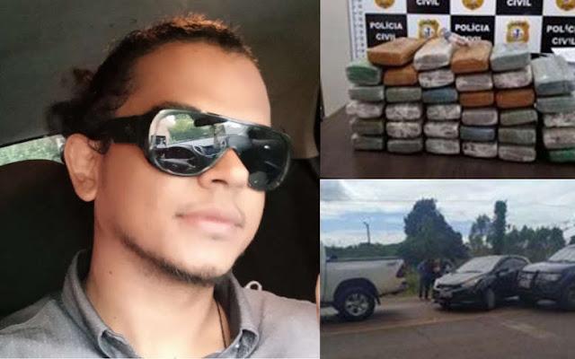 Filho de deputado estadual paraense é preso com 40 kg de maconha no Maranhão