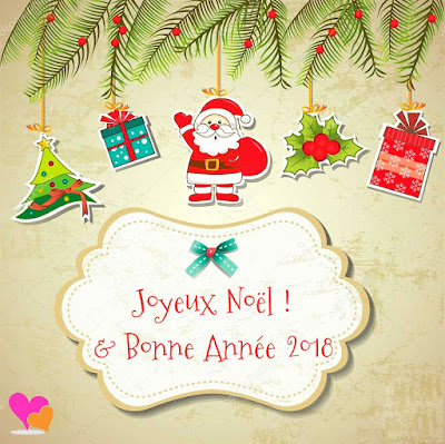Carte de vœux Père Noël & Bonne année 2018 à imprimer