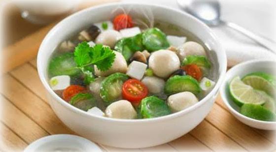 Sup Pak Choi Telur Puyuh Torolong
