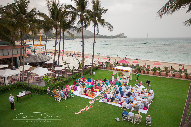 Hawaii Destination Wedding Photography Honolulu Sikh Marriage Pictures Punjabi Photos Waikiki Beach Royal Hawaiian Hotel