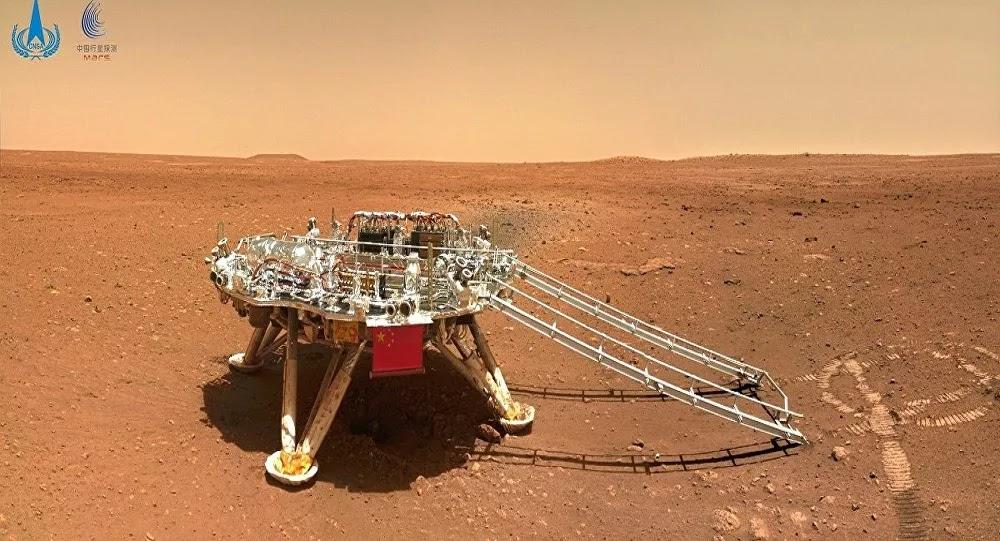 رفع العلم الصيني على كوكب المريخ... فيديو
