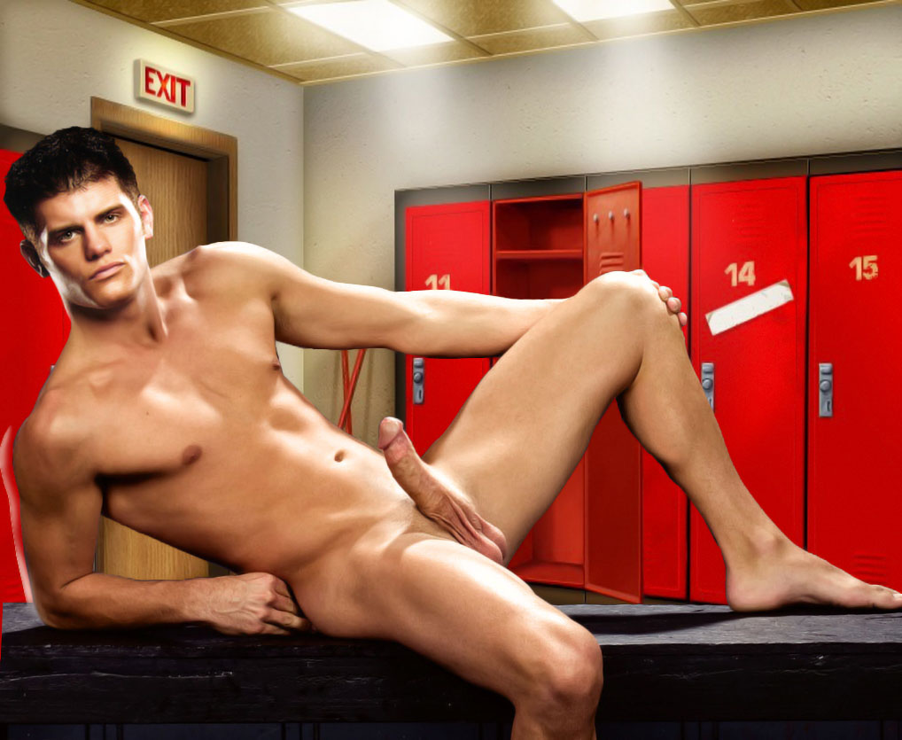 Nude tan skinny stripper