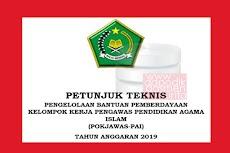 Juknis Bantuan Kelompok Kerja Pengawas PAI 2019-2020