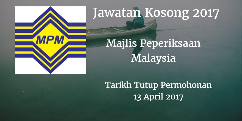 Jawatan Kosong MPM 13 April 2017
