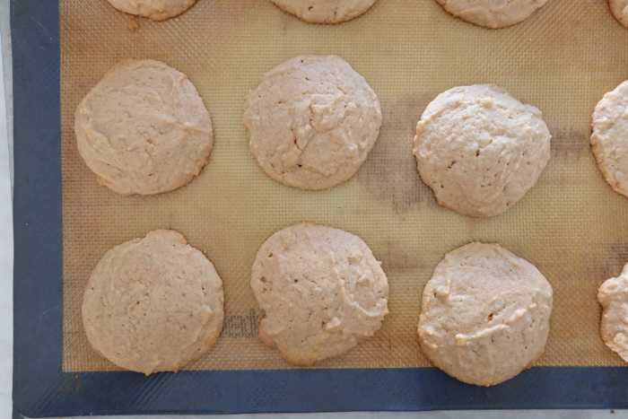 freshly baked cinnamon peanut butter cookies