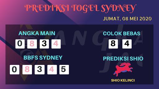 Prediksi Togel Sydney Jumat 08 Mei 2020 - Prediksi Angka Sydney