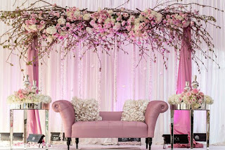 Organic flower canopy for backdrop design for party decoration