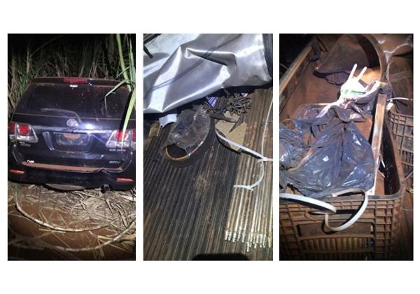 Carros utilizados por quadrilha em roubo ao Banco do Brasil são encontrados