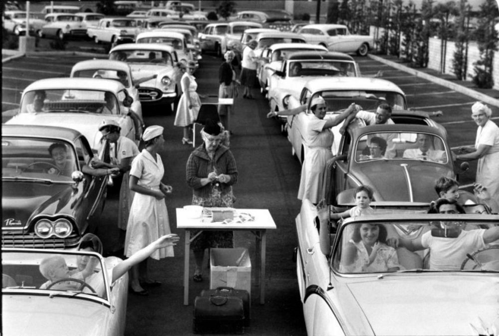 Drive-Thru Polio Clinic in the Early 1960s