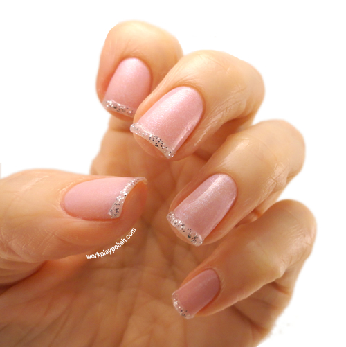 Silver Tipped French Manicure