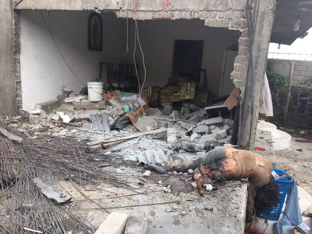 Explosión en inmueble de Zumpango deja una persona muerta