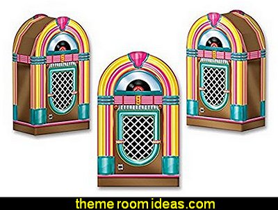 Jukebox Favor Boxes   50s party ideas - 50s party decorations - 1950s Theme Party - 1950's Rock and  Roll Themed Party Supplies - 50s Rock and Roll Theme Party - 50s party decorations - 50s party props - 50s diner party  - 50s Costume