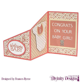 Custom Dies: Z-Fold Card With Layers, Baby Blessings, Letter Board, Long & Lean Letters, Ovals, Scalloped Ovals, Paper Collection: Baby Girl