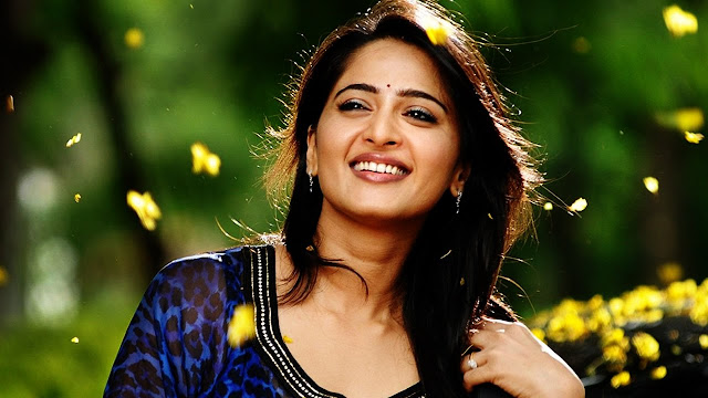 Anushka Shetty Hot Wallpaper in Saree