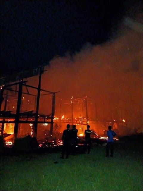 Kondisi Bola Soba di Bone setelah Kebakaran