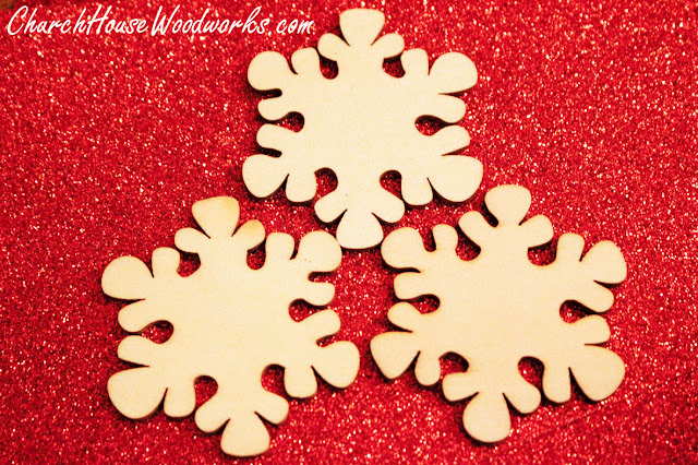 Wooden Snowflake Ornaments For Sale - Christmas Wood Ornaments for DIY Crafts by ChurchHouseWoodworks.com