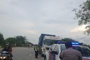 Satlantas Polres Serang Kembali Lakukan Penertiban Truk ODOL dan Parkir Liar di Jalan Cirabit