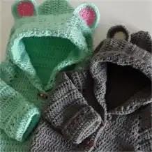 Capucha Osito a Crochet