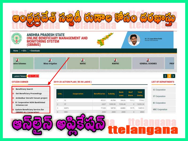 ఆంధ్రప్రదేశ్ సబ్సిడీ రుణాల కోసం దరఖాస్తు చేసుకోవడం ఎలా How to apply for Andhra Pradesh subsidy loans