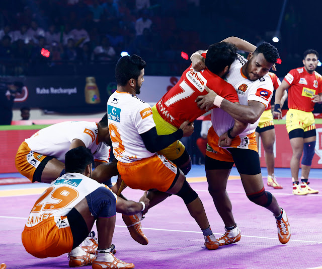 Puneri Paltan's Girish Ernak put up an exceptional performance