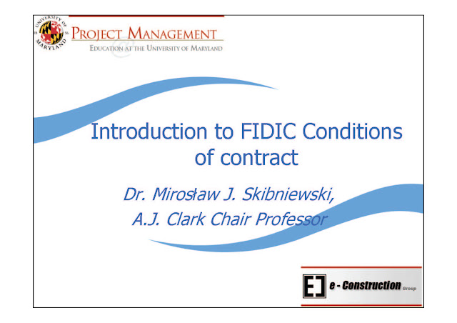 Introduction to FIDIC Conditions of contract