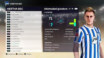 PES 2021 Faces Lukas Klünter