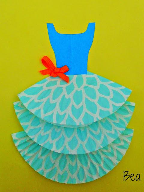 Laurka dla mamy z sukienką