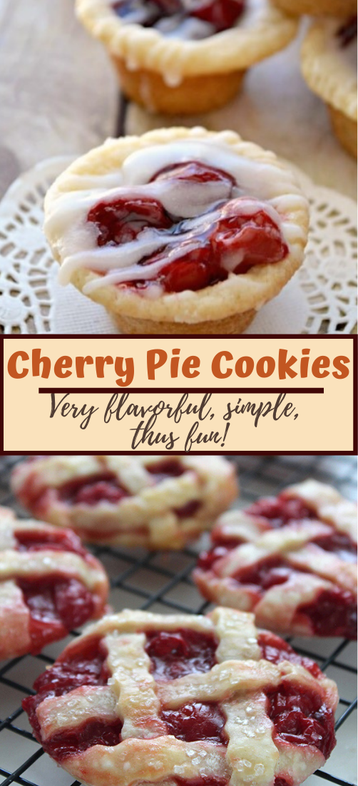 Cherry Pie Cookies #desserts #cakerecipe #chocolate #fingerfood #easy