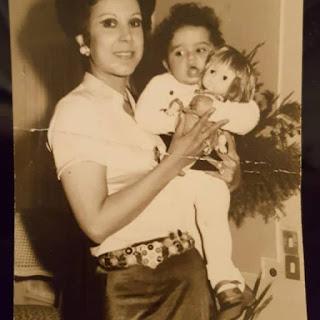 Ragaa and baby Amira
