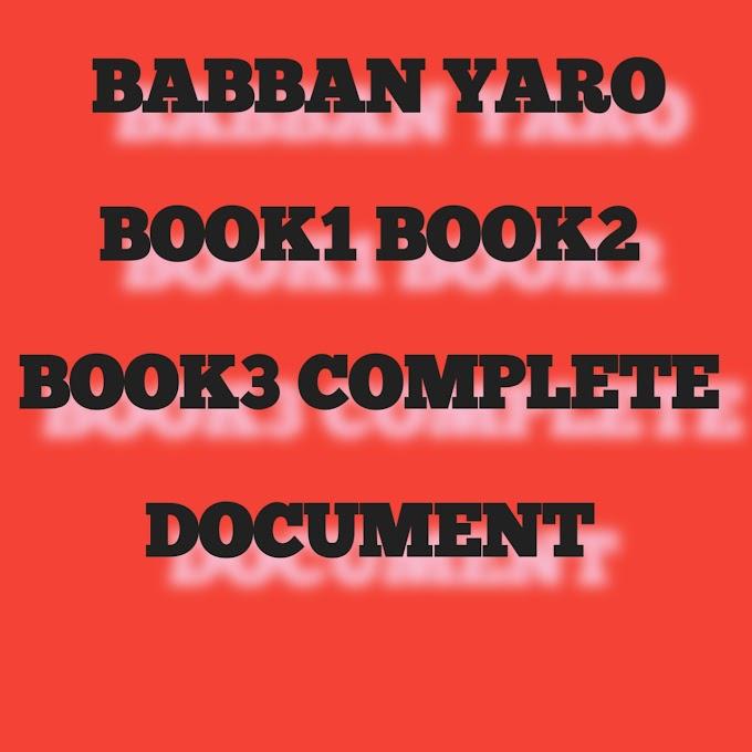 BABBAN YARO  BOOK1 BOOK2 BOOK3