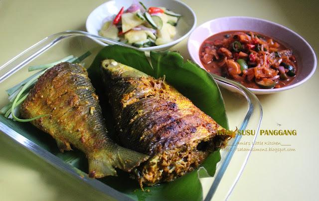 Ikan Susu Panggang Cecah Budu