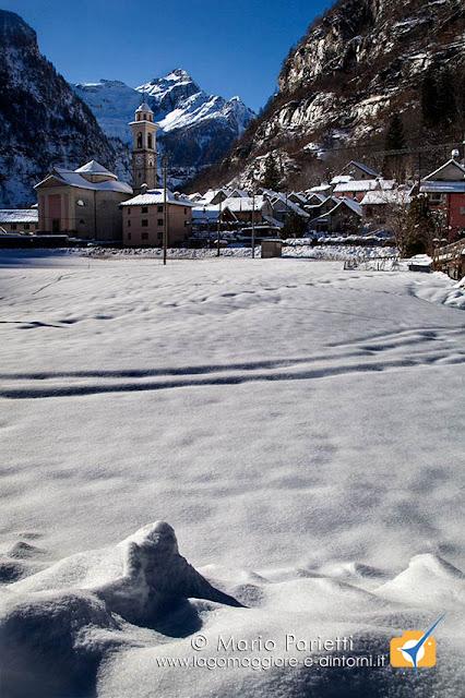 Sonogno con neve