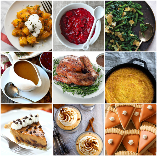 30+ Recipes for a Fabulous Thanksgiving Feast - via BirdsParty.com