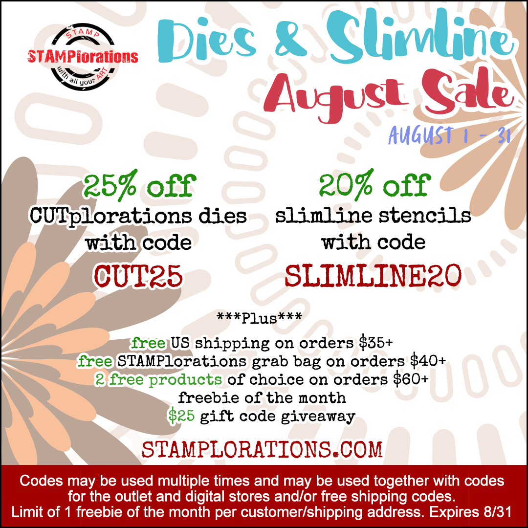 Dies and Slimline Stencils August Sale!