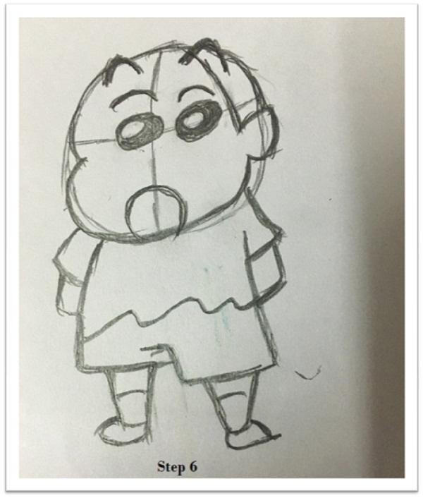 How To Draw Shin Chan Cartoon Step By Step