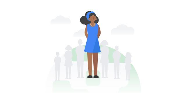 Illustration einer farbigen Frau
