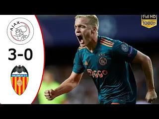 Valencia vs Ajax 0-3 All Goals And Match Highlights [MP4 & HD VIDEO]