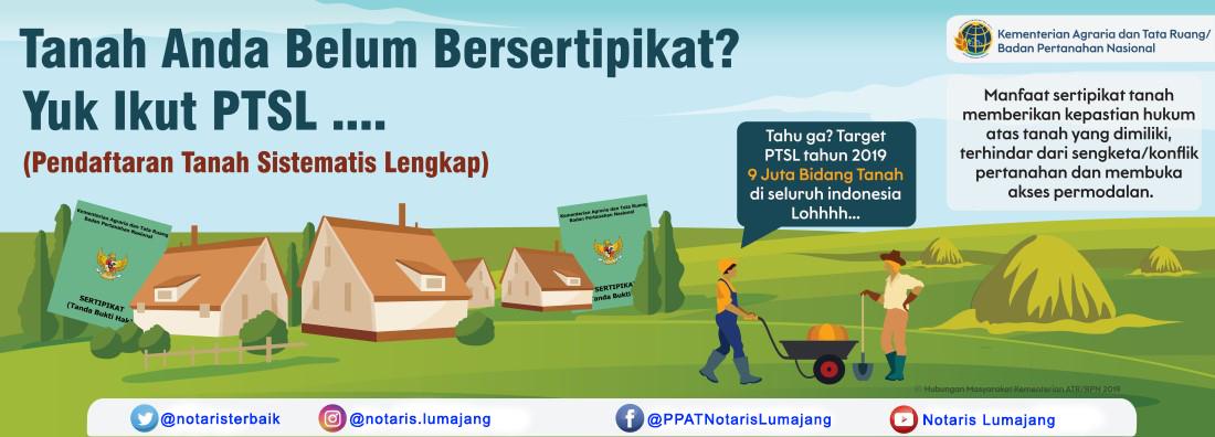 "Notaris Candipuro: ""Daftar Lokasi PTSL Pendaftaran Tanah Sistematik Lengkap Wilayah Kerja Kabupaten Lumajang Tahun 2020"""