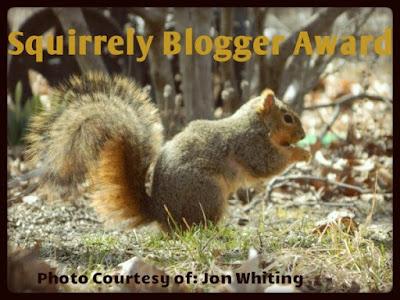 Squirrely Blogger Award | featured on www.BakingInATornado.com