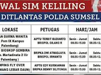 Jadwal SIM Keliling Ditlantas Polda Sumsel 2019