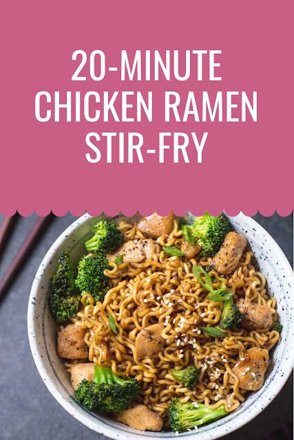20-Minute Chicken Ramen Stir-Fry