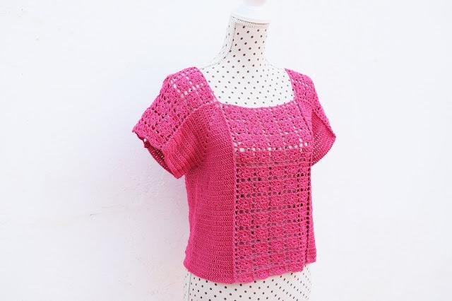 3 - Crochet Imagen Blusa veraniega a crochet y ganchillo por Majovel Crochet