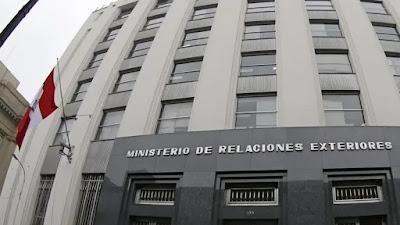 Cancillería peruana pide a países no hacer comentarios sobre el proceso electoral