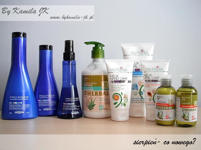 L'Oreal szampon odżywka spray Pro Fiber Elfa Pharm balsam szampon odżywka  O'Herbal peeling krem do rąk Vis Plantis