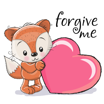 Forgive Me Fox Symbols Emoticons